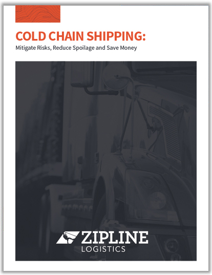 ebook cover refrigerated logistics tips for cold chain shippers